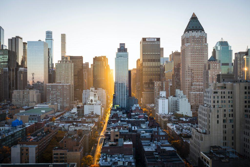 Blick auf Ney York, die führende Tech-City