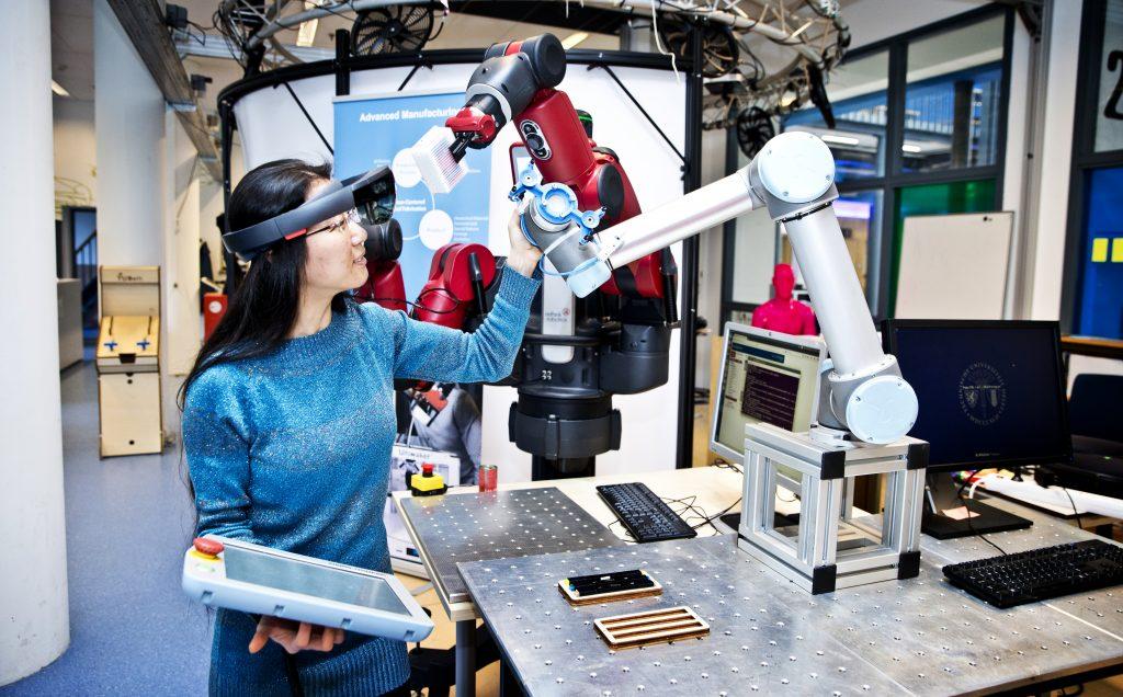 Roboterarme in Aktion