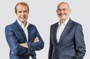Ein Porträt von Hauptgeschäftsführer Malte Heyne und Präses Norbert Aust